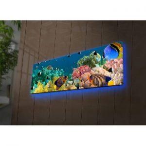 Tablou cu LED-uri Curtis, 90 x 30 cm