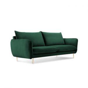 Canapea cu tapiterie din catifea Cosmopolitan Design Florence, verde