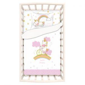 Lenjerie de pat din bumbac pentru copii Apolena Mirra Calsie, 100 x 150 cm