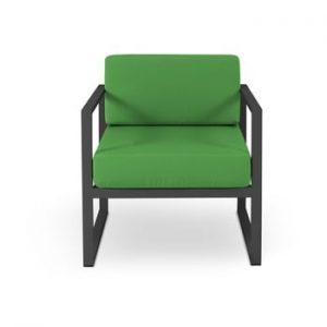 Fotoliu adecvat pentru exterior Calme Jardin Nicea, negru - verde