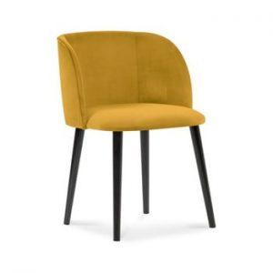 Scaun cu invelis de catifea Windsor & Co Sofas Aurora, galben