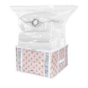 Cutie de depozitare cu vid pentru haine Compactor Signature Blush, 125 l