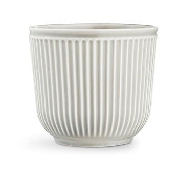 Ghiveci din ceramica Kähler Design Hammershoi Flowerpot, ⌀ 18 cm, gri deschis