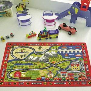 Covor pentru copii Railway, 100 x 150 cm