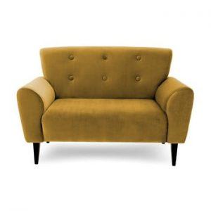 Canapea cu 2 locuri Vivonita Kiara, galben mustar