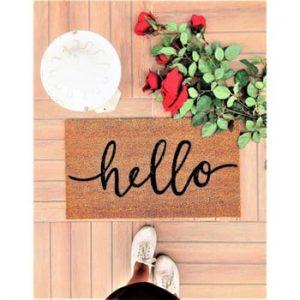 Pres Doormat Hello, 70 x 40 cm