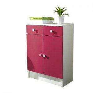 Dulap baie TemaHome Combi, latime60cm, roz