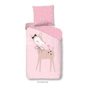 Lenjerie de pat din bumbac pentru copii Good Morning Dolly, 140x200cm