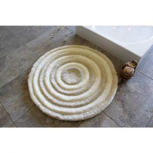 Covoras de baie Confetti Bathmats Ecru, Ø 90 cm, maro deschis