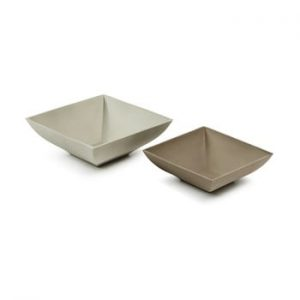 Set 2 boluri din ciment La Forma Stefy, maro - gri
