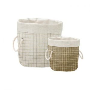 Set 2 cosuri decorative Linen Simple Squares