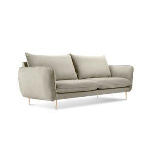 Canapea cu tapiterie din catifea Cosmopolitan Design Florence, bej