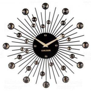 Ceas de perete Karlsson Sunburst, negru