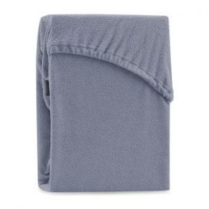 Cearsaf elastic pentru pat dublu AmeliaHome Ruby Steel, 180-200 x 200 cm, gri