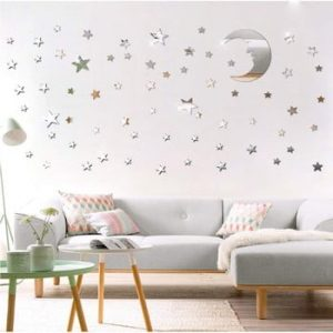Set 77 autocolante oglinda de perete Ambiance Moon and Stars