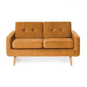 Canapea cu 2 locuri Vivonita Ina Trend, galben mustar