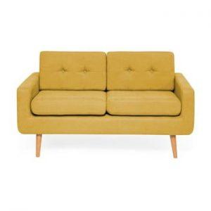 Canapea cu 2 locuri Vivonita Ina, galben