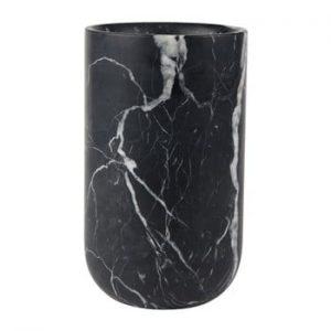 Vaza din marmura Zuiver Fajen, negru