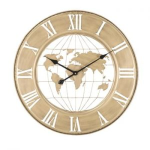 Ceas de perete Mauro Ferretti World, ø63cm, auriu