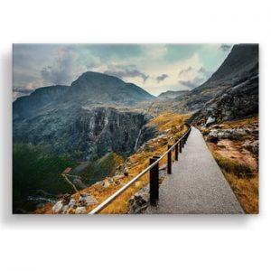 Tablou imprimat pe panza Styler Norway Mountains, 115 x 87 cm