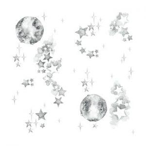 Set autocolante de perete Dekornik White Universe