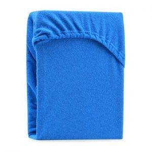 Cearsaf elastic pentru pat dublu AmeliaHome Ruby Blue, 180-200 x 200 cm, albastru