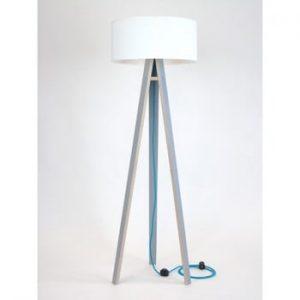 Lampadar cu cablu turcoaz Ragaba Wanda, gri - alb