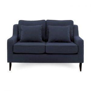 Canapea cu 2 locuri Vivonita Bond, albastru inchis
