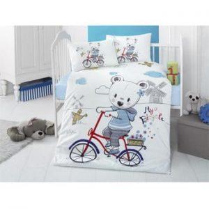 Lenjerie din bumbac pentru pat de o persoana Reterro Kermito, 100 x 150 cm