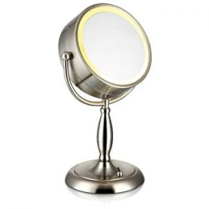 Oglinda de masa cu lumina Markslöjd Face, argintiu