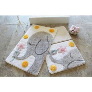 Set 3 covorase de baie Confetti Bathmats Elephant