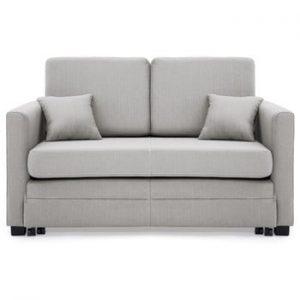 Canapea extensibila, 2 locuri, Vivonita Brent, gri deschis