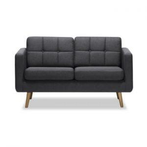 Canapea cu 2 locuri Vivonita Magnus, gri inchis