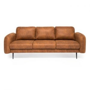 Canapea cu 3 locuri Vivonita Skolm, imitatie piele