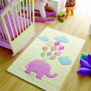 Covor pentru copii Sweet Elephant Pink, 100 x 150 cm