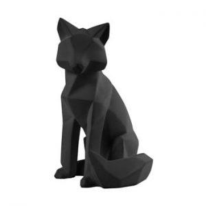 Statueta PT LIVING Origami Fox, inaltime 26 cm, negru mat