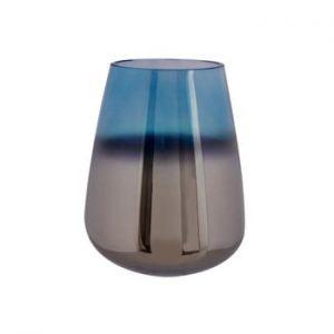 Vaza din sticla PT LIVING Oiled, inaltime 23 cm, albastru