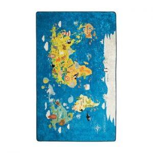 Covor copii World Map, 100 x 160 cm