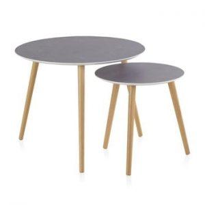 Set 2 masute de cafea Geese Nordic Style Grisso, ⌀ 60 cm