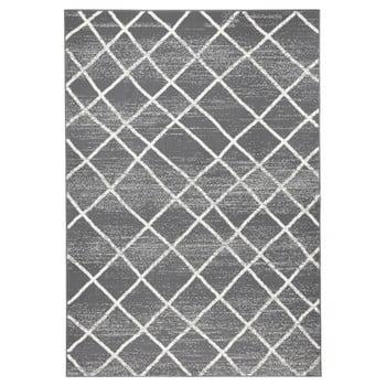 Covor Zala Living Rhombe, 200 x 290 cm, gri inchis