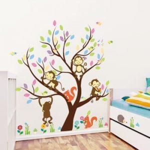 Set autocolante Ambiance Monkey on the Tree