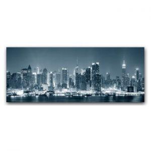 Tablou imprimat pe panza argintie Styler Manhattan, 150 x 60 cm