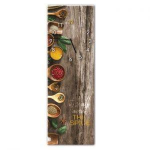 Ceas de perete Styler Glassclock Spice, 20 x 60 cm