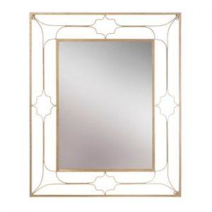 Oglinda de perete Mauro Ferretti Balcony, 80x100cm, auriu