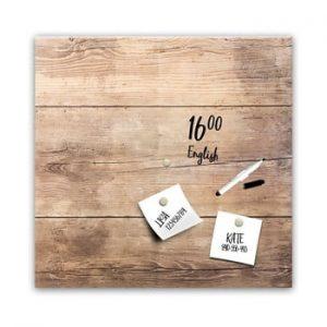 Tabla magnetica Styler Wood, 30 x 30 cm