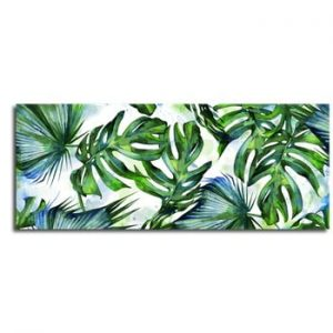 Tablou Styler Canvas Greenery Tropical, 60 x 150 cm