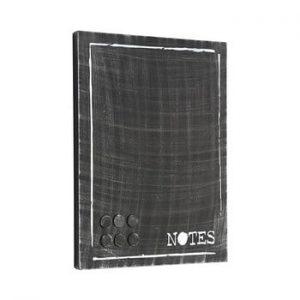 Placa metalica pentru mesaje LABEL51 Memo, negru