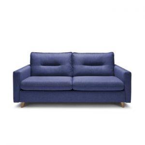Canapea extensibila cu 3 locuri Bobochic Paris Sinki, albastru