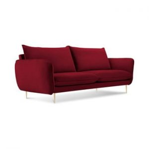 Canapea cu tapiterie din catifea Cosmopolitan Design Florence, rosu