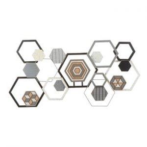 Decoratiune metalica pentru perete Mauro Ferretti Grid, 135x67,5cm
